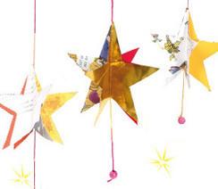 Guirlande de Noël: des étoiles pour le sapin à faire avec les enfants | activités senior - période avant Noël | Scoop.it