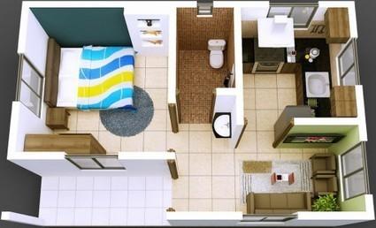 Cómo ser feliz con 40 metros cuadrados de casa | Immobilien | Scoop.it