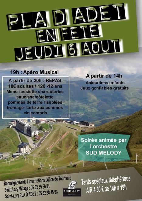 Fête du Pla d'Adet le 6 août | Revue de Web par ClC | Scoop.it