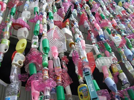 Stadium in Seoul versierd met plastic afvalflessen | Creatief Hergebruik | Scoop.it