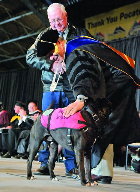 Cletus fills in: Service dog receives ISU degree on behalf of deceased owner | The Animal-Human Bond | Scoop.it