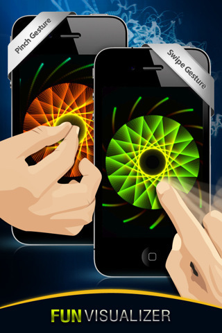 Free Visualizer of Geometrica - Wallpapers, Fireworks, Glow and Art for iPhone, iPod touch, and iPad on the iTunes App Store | Appertunity's fun & creative iphone news | Scoop.it