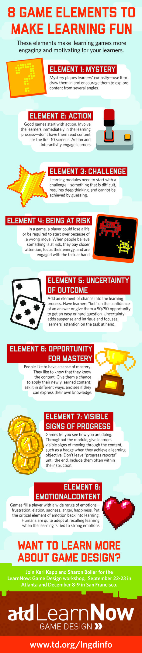 8 Game Elements to Make Learning Fun | Serious Play | Scoop.it
