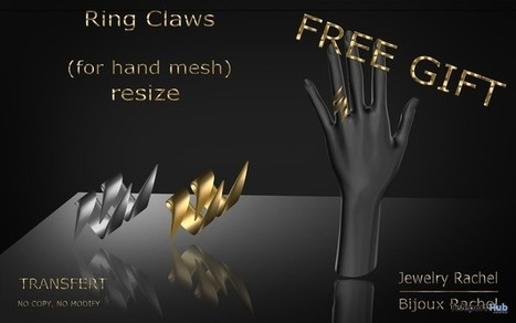 Ring Claws Gift by Bijoux Rachel | Teleport Hub - Second Life Freebies | Second Life Freebies | Scoop.it