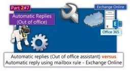 Configuring Automatic Replies (Out of office) using Outlook, OWA, and PowerShell |Part 2#7 | o365info.com | Scoop.it