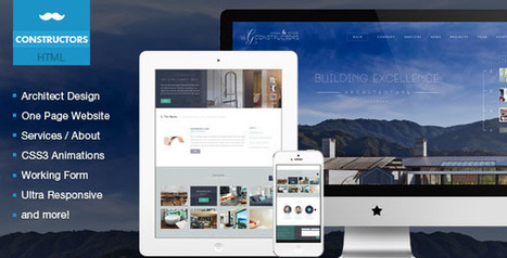 Constructors – Architects & Engineers HTML Theme (Business)   Site Templates Download   Scoop.it