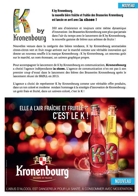K by Kronenbourg trinque avec la chose ! | Com, pub, etc... | Scoop.it