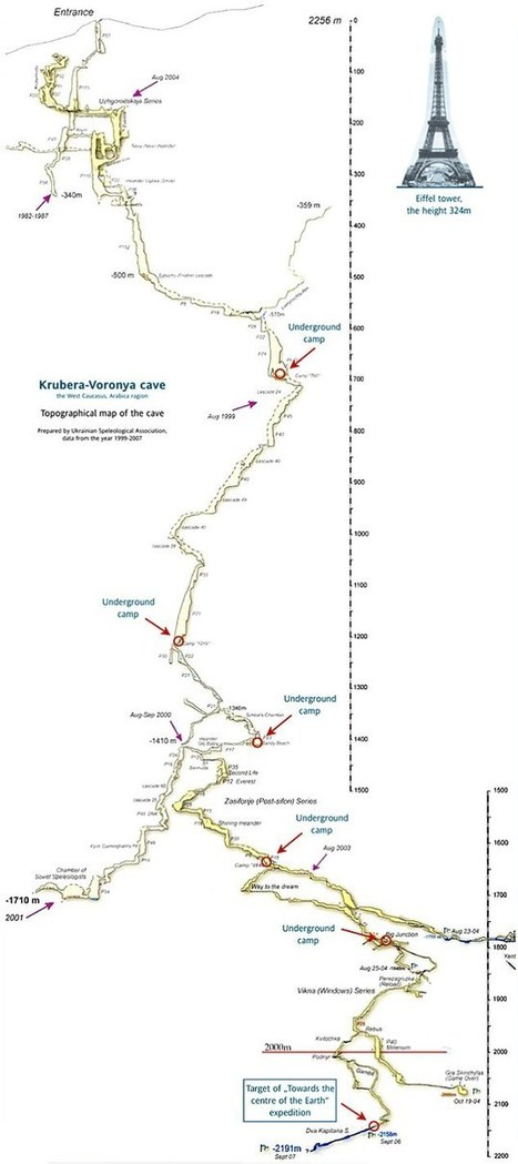 Krubera, Earth's deepest cave mapped - it takes 1 month to decent to the bottom | Amazing Science | Scoop.it