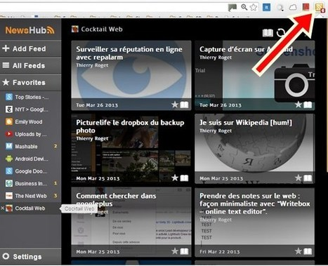 Suivre un ou plusieurs blogues via news Feed [chrome] | Time to Learn | Scoop.it