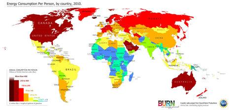 Energie : la consommation par habitant est très inégale selon les pays, sans surprise | Acteurs & Marché de l'énergie | Scoop.it