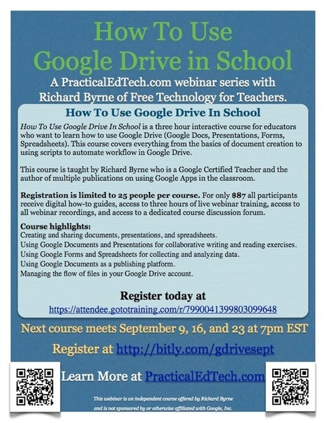 Free Technology for Teachers: Septemer Webinar Series - How To Use Google Drive In School | Using Google Drive in the classroom | Scoop.it