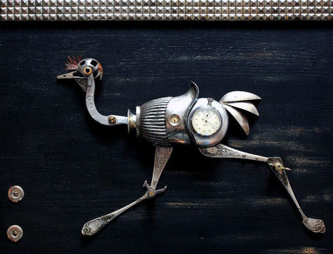 Lithuanian Artist Creates #Steampunk #Assemblages From Various #Metal #Parts. #art #foundobjects   Luby Art   Scoop.it