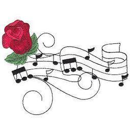 Musical Roses - Sensational Stitches | OregonPatchWorks | embroidery | Scoop.it