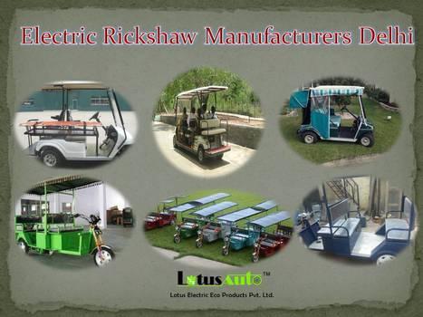 Electric Rickshaw Manufacturers Delh   Rickshaw   Scoop.it
