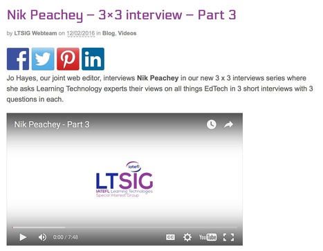 Nik Peachey – 3×3 interview – Part 3 | | Nik Peachey | Scoop.it