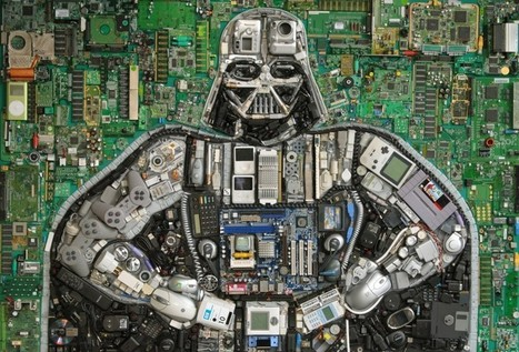 Darth Vader hecho con cientos de dispositivos y productos electrónicos | GeeKeando | Scoop.it