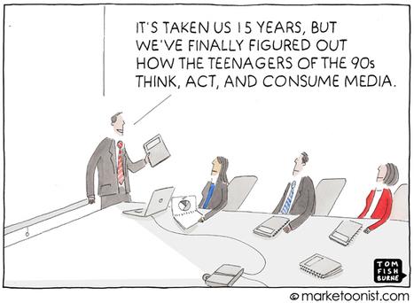 """How We Consume Media"" cartoon | Tom Fishburne: Marketoonist | Digital Love | Scoop.it"