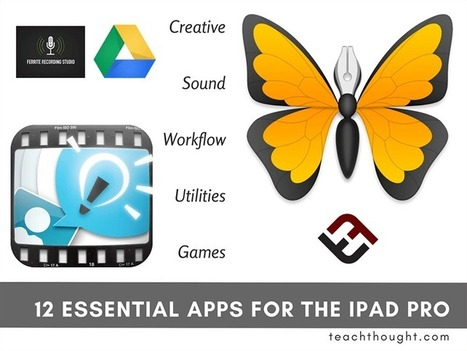 12 Essential Apps For The iPad Pro - | TeachThought | Scoop.it