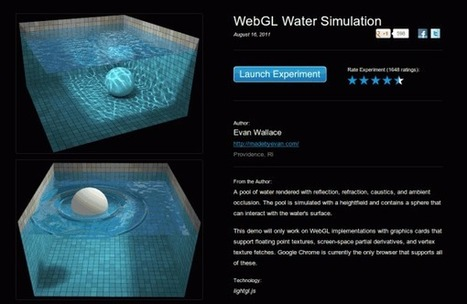 Simulación de agua en Chrome, un experimento con WebGL | Las TIC y la Educación | Scoop.it