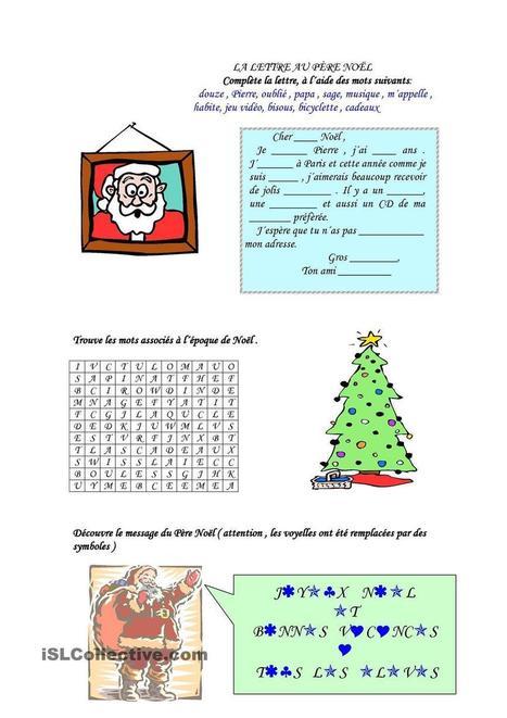 des activités pour Noël | FLE enfants | Scoop.it