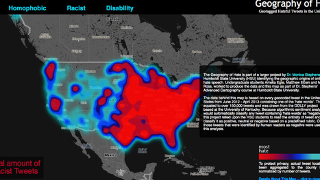 Map of Twitter Racism Shows Twitter Is Racist Everywhere | Archivance - Miscellanées | Scoop.it