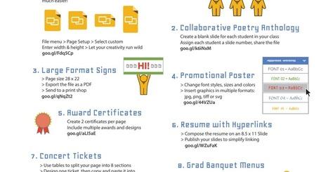 Google Slides - template tips via EdTechTeam | TechTips | Scoop.it