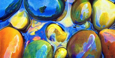 Rainbow Rocks #art #painting #colour #rocks | Luby Art | Scoop.it