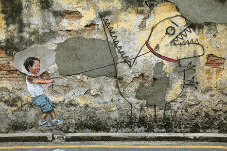 Penang Street Art, Wall Painting at Penang | own lyric abstraction | Scoop.it