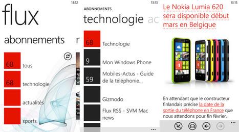 Flux, l'appli Feedly, de retour sur Windows Phone (gratuite pour une durée limitée !) | RSS Circus : veille stratégique, intelligence économique, curation, publication, Web 2.0 | Scoop.it