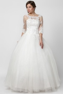 Princess Grand Embroidery Bow Cap Sleeves Ball Wedding Gown | Wedding Accessories | Scoop.it