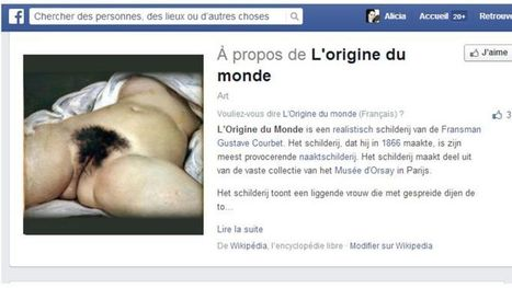 L'Origine du monde censurée, Facebook au tribunal - Le Figaro | the web: design, E-skills & news | Scoop.it