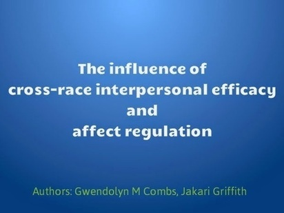 The influence of cross-race interpersonal effic... - Posts - Quora   Jakari-Griffith-Learning-Motivation and Transfer of Human Capital Development   Scoop.it