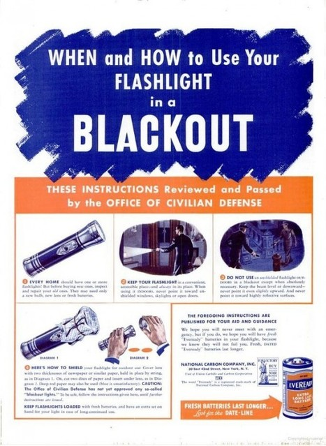 When and how to use your flashlight in a blackout, 1942 | GenealoNet | Scoop.it