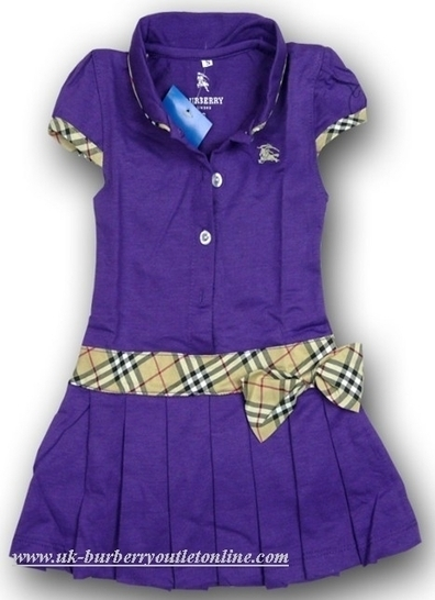 Burberry Kids Pure Color Dress Purple [B004301] - $88.00 : Burberry Outlet Stores,Burberry Outlet Online,Cheap Burberry For Sale | Burberry | Scoop.it
