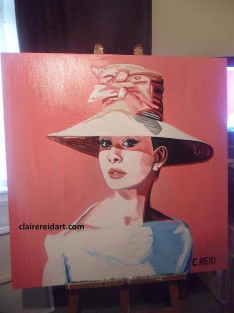 Twitter / ClaireReidArt: Audrey Hepburn, oils on canvas ... | Art | Scoop.it