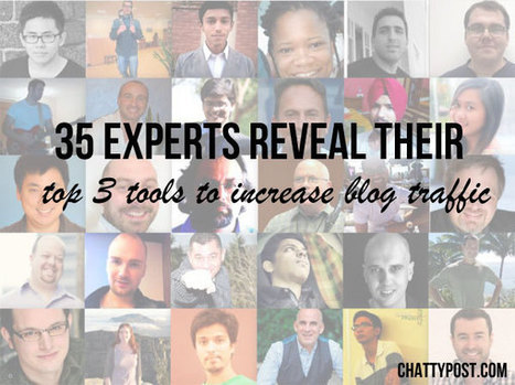 35 Experts Reveal Their Top 3 Tools To Increase Blog Traffic  | Chatty Post | Social Media Recommendations | Scoop.it