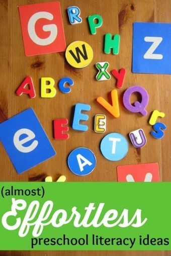 12 (Almost) Effortless Preschool Literacy Activities - What Do We Do All Day? | 0-8 Education | Scoop.it