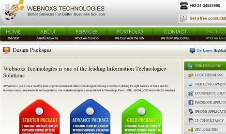 Webnoxs Technologies - web design, web development, e-commerce, iphone applications & facebook application development   Custom ecommerce   Scoop.it