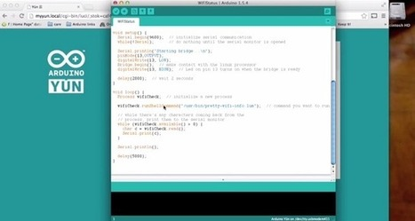 """Getting started with Arduino Yún video tutorial 