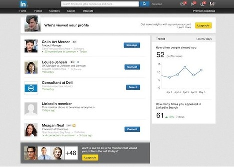 LinkedIn touts more data potential for 'Who's Viewed Your Profile' | ZDNet | All About LinkedIn | Scoop.it