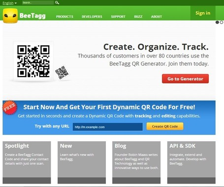 QR Reader | QR Generator by BeeTagg | Mobile & Magasins | Scoop.it