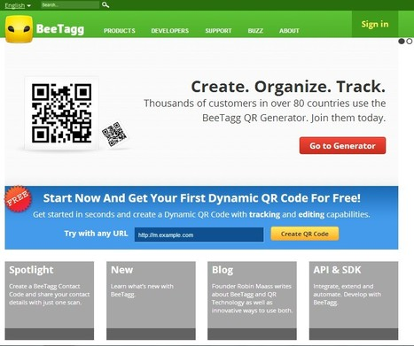 QR Reader | QR Generator by BeeTagg | Teaching in the XXI Century | Scoop.it