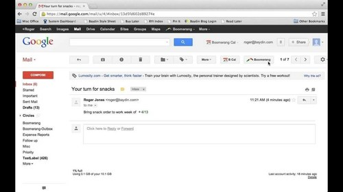 How to Schedule Reminders with Boomerang for Gmail (late 2013) – YouTube