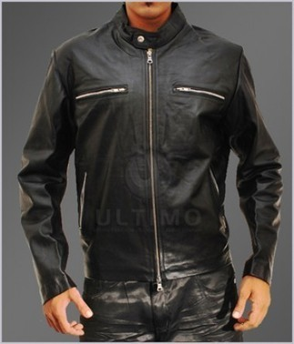 Classic Slim Fit Mens Rider Black Bomber Leather Jacket   You like leather jackets since nobody ignored it   Scoop.it