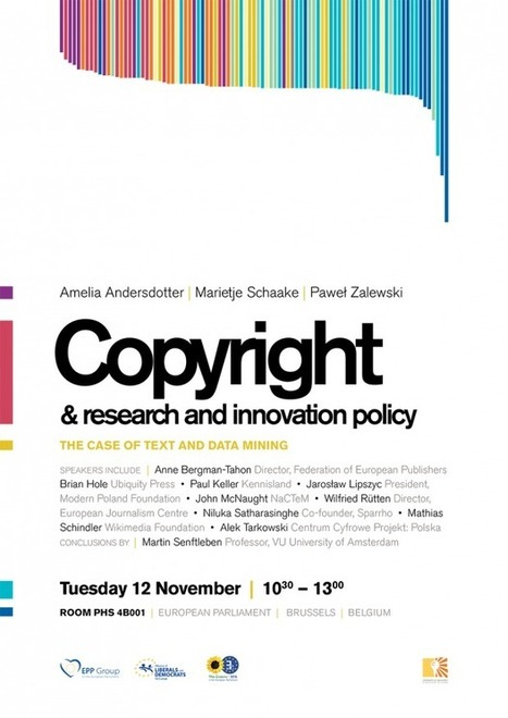 Event: Copyright and Research & Innovation Policy: The Case of Text and Data Mining   Right to Share Events   Scoop.it
