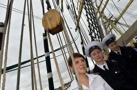 Ils sont cadets sur le bateau star de l'Armada de Rouen | jactiv.ouest-france.fr | Armada de Rouen 2013 | Scoop.it