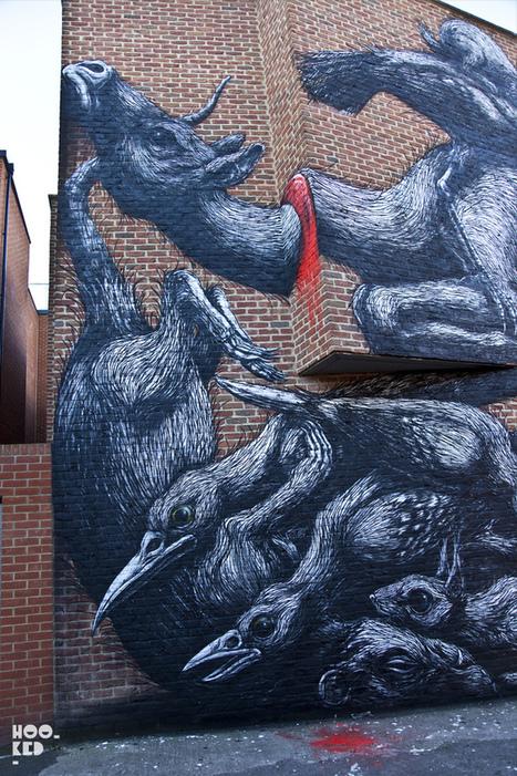 ROA New Mural in East London | Hookedblog — UK Street Art | World of Street & Outdoor Arts | Scoop.it