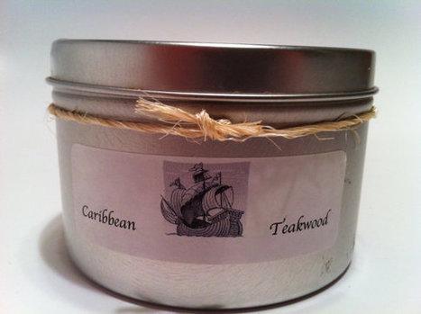 Repurposed Tin Soy Candle-Caribbean Teakwood | Handicraft | Scoop.it