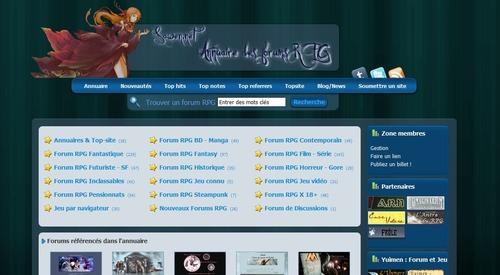 Sawen.net annuaire de jeux de rôle par forum