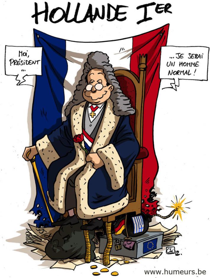 François Hollande intronisé président ! | Baie d'humour | Scoop.it